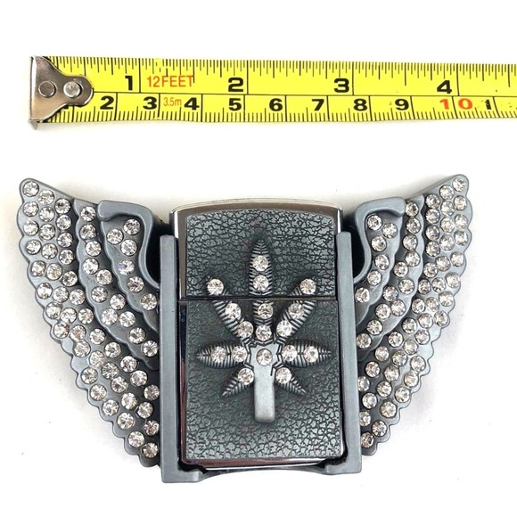 Tiger Belt Buckle Removable Western Cowboy SILVER HIGH QUALITY